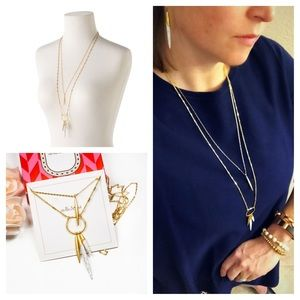 Stella and Dot Quill Layering Necklace